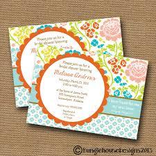 Bridal Invitation Cards Printable Bridal Shower Invitation Floral Wedding Shower
