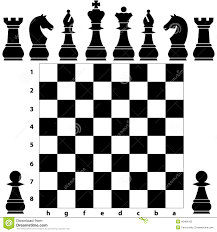 chess board with chess pieces stock images image 36375744