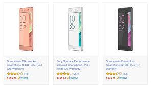 amazon black friday unlocked phone deals deal alert sony xperia xa x and x performance all marked down