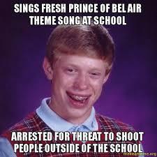 Bel Air Meme - sings fresh prince of bel air theme song at school arrested for
