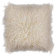 Kas Rugs Ivory Shaggy Decorative Pillow Pill25620sq Shaggy And