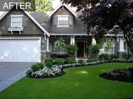 landscape ideas for front of house low maintenance