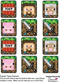 minecraft party decorations cupcake decorations minecraft party decorations free printable