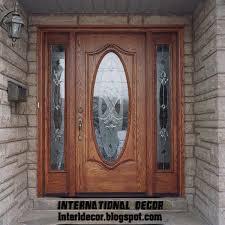 glass wood doors excellent wood door with glass design 37 for home design planning