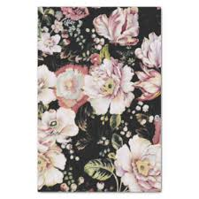 floral tissue paper bohemian craft tissue paper zazzle