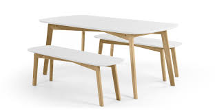 dining room bench sets white dining table with bench
