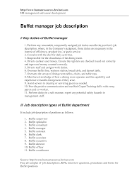 Job Description Of Bartender For Resume Dining Room Supervisor Cover Letter