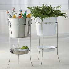 Oval Party Beverage Tub by White And Silver Tub Plus Circle Tray Connected With Triple Gray