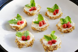 cuisine canapé goat s cheese canapé recipe great chefs