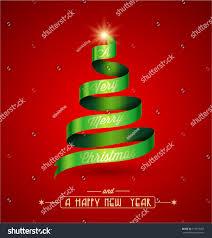 creative christmas tree a very merry stock vector 115675927