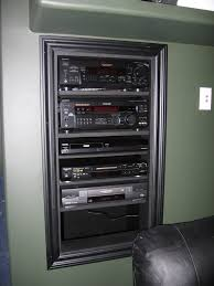 Home Theatre Design Books Home Theater In Wall Rack The Component Rack Was Placed Under
