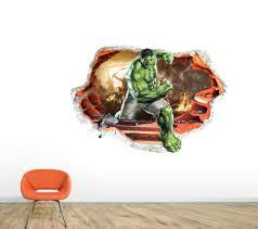 avengers home decor avengers wall sticker incredible hulk smashed wall art decal
