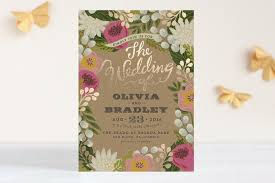 foil sted wedding invitations the prettiest gold foil floral wedding invitation invites
