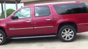 hd video 2013 gmc yukon xl denali red used awd for sale see www