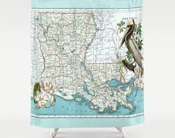 Shower Curtain Map World Map Shower Curtains Pillows Duvets Vintage Maps By Mapology
