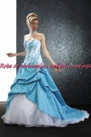 robe de mariã e bleue robe de mariée bleu et blanc le de la mode