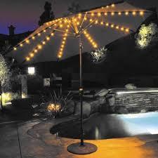 Patio Umbrellas With Led Lights Stylish Patio Umbrella With Led Lights