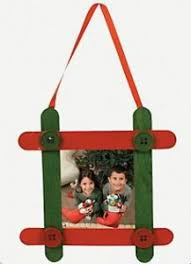craft stick picture frame picture frame ornaments holidays