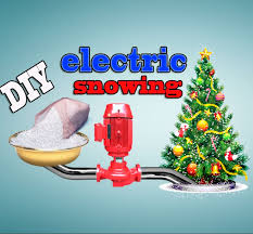 how to make diy electric snowing tree