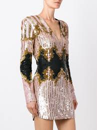 balmain hoodie for sale multicoloured silk sequin embroidered