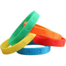 silicone rubber wristband bracelet images Paw prints silicone bracelets jpg