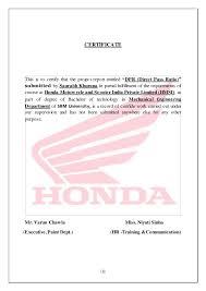 honda report on paint