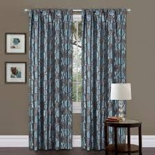 blue and brown curtains amazon com