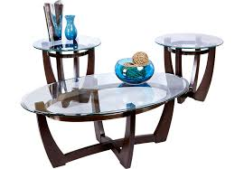 glass coffee table set of 3 round coffee and end table sets glass cheap inside idea 11