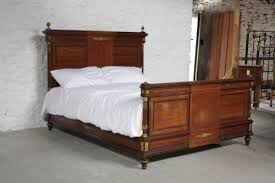 magnificent french style mahogany and fruitwood king size bed