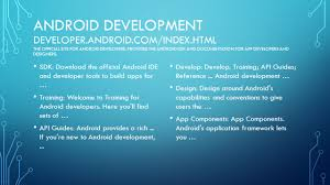 developer android sdk android application development android development developer