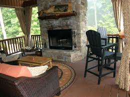 outdoor fireplace deck protector fireplaces plan building design