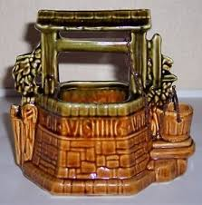 mccoy pottery wishing well planter mint ebay