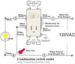 How To Wire A Light Fixture Diagram Switch Receptacle Combo Wiring Diagram How To Wire Switches