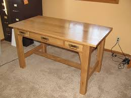 custom library table craftsman style white oak by mst woodworks