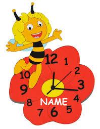 wanduhr kinderzimmer lautlos wanduhr die kleine biene maja lautlos incl namen uhr