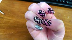 pink n black nail designs beautify themselves with sweet nails