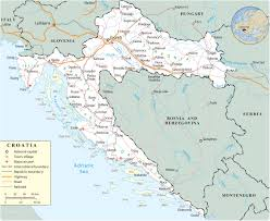 Europe Map With Rivers by Map Croatia Travel Europe