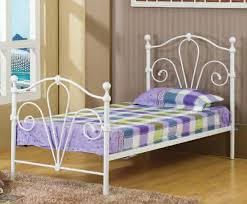 White Metal Bed Frame Single White Metal Bed Frame Ideas Raindance Bed Designs
