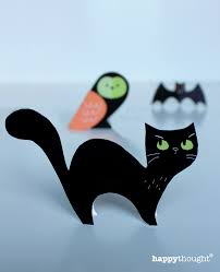 halloween craft menagerie free cute cats owls u0026 bats