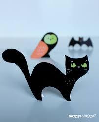 halloween paper craft halloween craft menagerie free cute cats owls u0026 bats