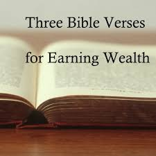 bible verses earning wealth