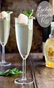 martini ginger lychee ginger fizz an amazingly refreshing yet warming cocktail