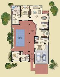 opulent ideas house plans with courtyard and pool 3 interesting