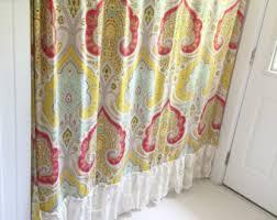 Shabby Chic Shower Curtain Hooks by Farmhouse Shower Curtain Etsy