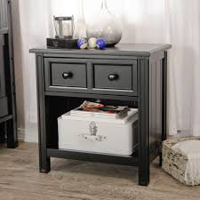 bedroom nightstand black two drawer nightstand shabby chic