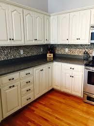 painting kitchen cabinets antique white glaze kitchen transformation in antique white milk paint antique