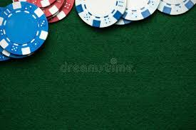 poker table top and chips poker chips baize cloth table top stock photo image of table
