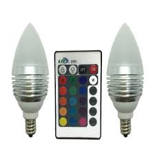 Led Light Bulb Deals by Ljy 2 Pack E12 Candelabra 3w Rgb Led Light Remote Control Color