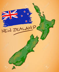 New Zealand Map New Zealand Map And National Flag Vector Royalty Free Cliparts