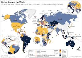 World Map Sweden by Electoral Systems And Voter Turnouts Around The World Map World